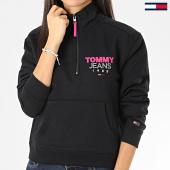 /achat-sweats-col-zippe/tommy-jeans-sweat-col-zippe-femme-logo-quartier-7662-noir-205837.html