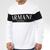 /achat-sweats-col-rond-crewneck/armani-exchange-sweat-crewneck-3hzmae-zj3fz-blanc-noir-206006.html