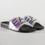 /achat-claquettes-sandales/ea7-claquettes-slipper-visibility-xcp001-xcc22-noir-iridescent-206080.html