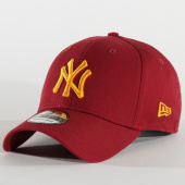 /achat-casquettes-de-baseball/new-era-casquette-baseball-39thirty-league-essential-new-york-yankees-80635932-bordeaux-jaune-206087.html
