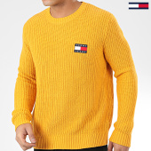 /achat-pulls/tommy-jeans-pull-tommy-badge-7418-jaune-moutarde-206014.html