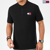 /achat-polos-manches-courtes/tommy-jeans-polo-manches-courtes-tommy-badge-7456-noir-206020.html