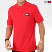 /achat-polos-manches-courtes/tommy-jeans-polo-manches-courtes-tommy-badge-7456-rouge-206024.html