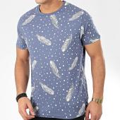 /achat-t-shirts/brave-soul-tee-shirt-quill-bleu-blanc-206148.html