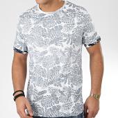 /achat-t-shirts/brave-soul-tee-shirt-floral-magnify-blanc-bleu-marine-206171.html
