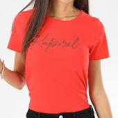 /achat-t-shirts/kaporal-tee-shirt-femme-avec-strass-raxie-corail-206133.html