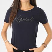 /achat-t-shirts/kaporal-tee-shirt-femme-avec-strass-raxie-bleu-marine-206134.html