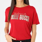 /achat-t-shirts/kaporal-tee-shirt-femme-rekio-rouge-dore-206138.html