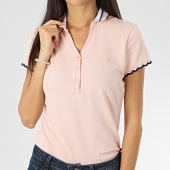 /achat-polos-manches-courtes/kaporal-polo-manches-courtes-femme-roxo-rose-saumon-clair-206141.html