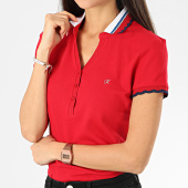 /achat-polos-manches-courtes/kaporal-polo-manches-courtes-femme-roxo-rouge-206144.html