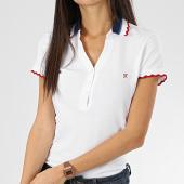 /achat-polos-manches-courtes/kaporal-polo-manches-courtes-femme-roxo-blanc-206145.html