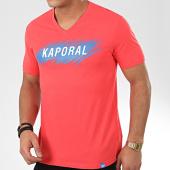 /achat-t-shirts/kaporal-tee-shirt-col-v-mass-rouge-206177.html