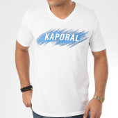 /achat-t-shirts/kaporal-tee-shirt-col-v-mass-blanc-206178.html