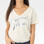 /achat-t-shirts/kaporal-tee-shirt-col-v-femme-boyle-blanc-casse-chine-206229.html