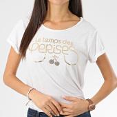 /achat-t-shirts/le-temps-des-cerises-tee-shirt-femme-basitrame-blanc-chine-dore-206184.html