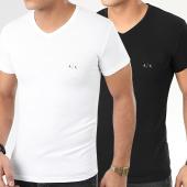 /achat-t-shirts/armani-exchange-lot-de-2-tee-shirts-col-v-956004-cc282-noir-blanc-206319.html