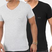 /achat-t-shirts/armani-exchange-lot-de-2-tee-shirts-col-v-956004-cc282-noir-gris-chine-206320.html