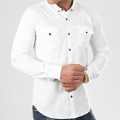 /achat-chemises-manches-longues/lbo-chemise-manches-longues-slim-fit-976-blanc-206347.html