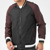 /achat-vestes/brave-soul-veste-zippee-a-bandes-eddie-noir-bordeaux-blanc-206424.html