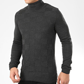 /achat-pulls/ikao-pull-col-roule-a-carreaux-f711-gris-anthracite-chine-206510.html