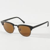 /achat-lunettes-de-soleil/ray-ban-lunettes-de-soleil-clubmaster-classic-3016-noir-marron-206402.html