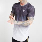 /achat-t-shirts-longs-oversize/siksilk-tee-shirt-oversize-monogram-fade-16162-noir-blanc-degrade-206544.html