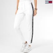 /achat-pantalons-joggings/tommy-hilfiger-pantalon-jogging-femme-a-bandes-0564-blanc-206521.html