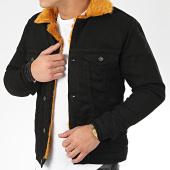 /achat-vestes-jean/classic-series-veste-jean-fourrure-6755-noir-camel-206621.html