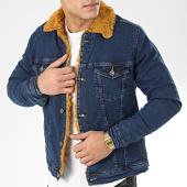 /achat-vestes-jean/classic-series-veste-jean-fourrure-6740-bleu-denim-camel-206624.html