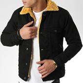 /achat-vestes-jean/classic-series-veste-jean-fourrure-6755-noir-beige-206627.html