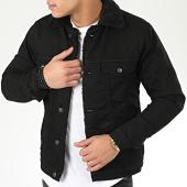 /achat-vestes-jean/classic-series-veste-jean-fourrure-6755-noir-206632.html