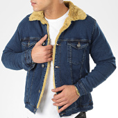 /achat-vestes-jean/classic-series-veste-jean-fourrure-6740-bleu-denim-beige-206639.html