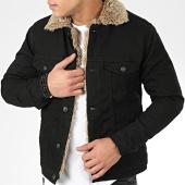 /achat-vestes-jean/classic-series-veste-jean-fourrure-6755-noir-beige-206646.html