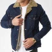 /achat-vestes-jean/classic-series-veste-jean-fourrure-6705-bleu-denim-beige-206647.html