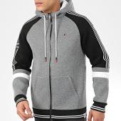 /achat-sweats-zippes-capuche/teddy-smith-sweat-zippe-capuche-a-bandes-elvis-gris-chine-noir-blanc-206631.html