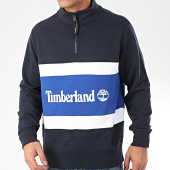 /achat-sweats-col-zippe/timberland-sweat-col-zippe-cut-and-sew-funnel-29nu-bleu-marine-bleu-roi-blanc-206591.html