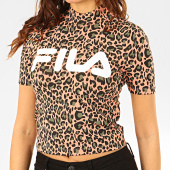 /achat-t-shirts/fila-tee-shirt-femme-leopard-every-all-over-print-turtle-687274-saumon-noir-vert-206996.html
