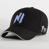 /achat-casquettes-de-baseball/ninho-casquette-baseball-led-avec-strass-noir-argente-207001.html