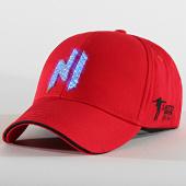 /achat-casquettes-de-baseball/ninho-casquette-baseball-led-avec-strass-rouge-argente-207002.html