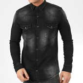 /achat-chemises-manches-longues/uniplay-chemise-jean-manches-longues-176-noir-207046.html