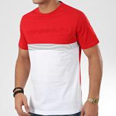 /achat-t-shirts/antony-morato-tee-shirt-sport-heritage-mmks01755-rouge-blanc-207177.html