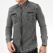 /achat-chemises-manches-longues/uniplay-chemise-jean-manches-longues-118-gris-207089.html