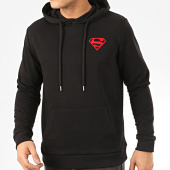 /achat-sweats-capuche/superman-sweat-capuche-logo-felt-noir-rouge-207476.html