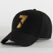 /achat-casquettes-de-baseball/7-binks-casquette-logo-noir-or-207582.html