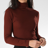 /achat-pulls/brave-soul-pull-slim-femme-col-roule-69adrian-marron-207660.html