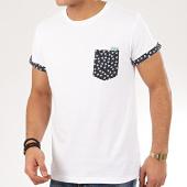 /achat-t-shirts-poche/deeluxe-tee-shirt-poche-floral-bahamas-blanc-207639.html