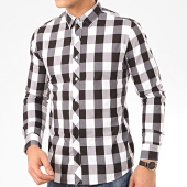 /achat-chemises-manches-longues/frilivin-chemise-manches-longues-a-carreaux-2096-blanc-noir-207691.html