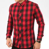 /achat-chemises-manches-longues/frilivin-chemise-manches-longues-a-carreaux-2096-rouge-noir-207692.html