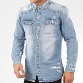 /achat-chemises-manches-longues/frilivin-chemise-jean-manches-longues-ca-634-bleu-denim-207694.html