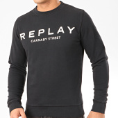 /achat-sweats-col-rond-crewneck/replay-sweat-crewneck-m3093-noir-207630.html